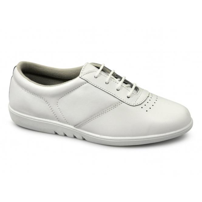 Boulevard TREBLE Ladies Leather Leisure Oxford Shoes White