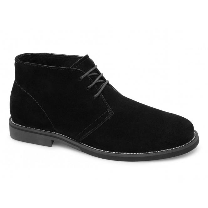 hush puppies chukka mens wide fit boots black