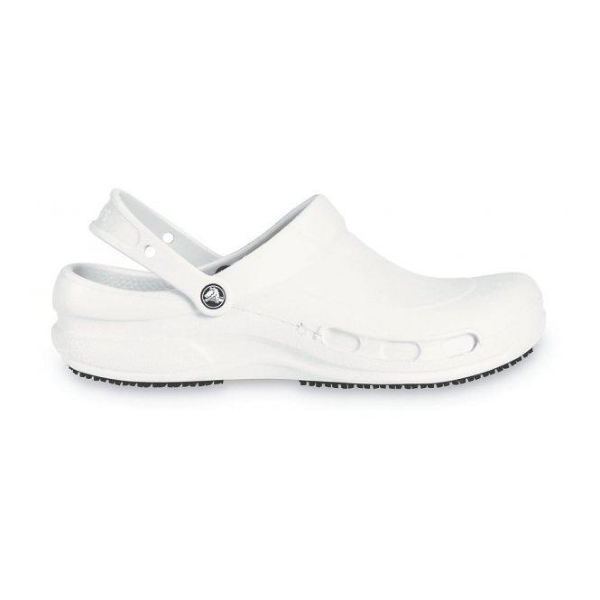 crocs bistro mens womens soft work clogs white