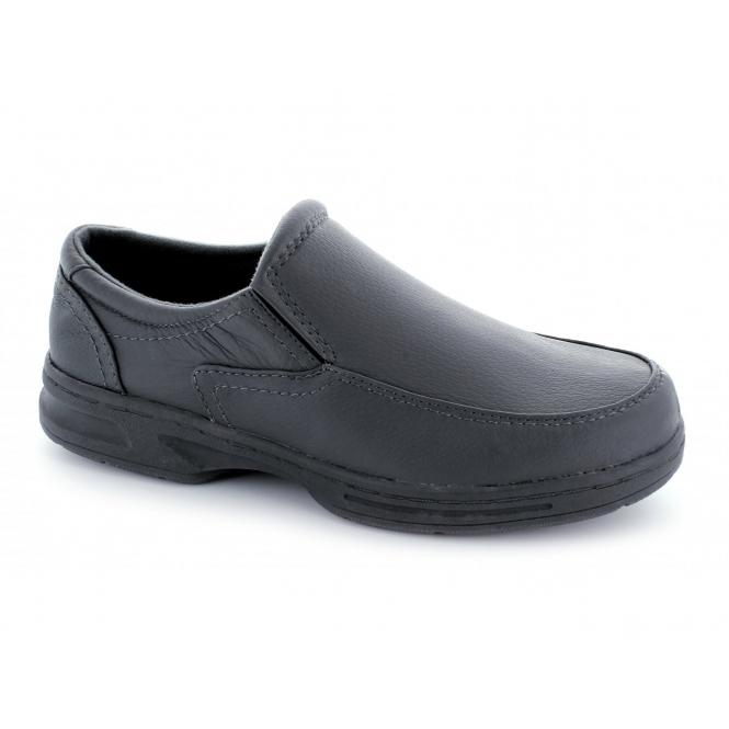Dr Keller HOWARD Mens Leather Wide Fit Loafers Grey