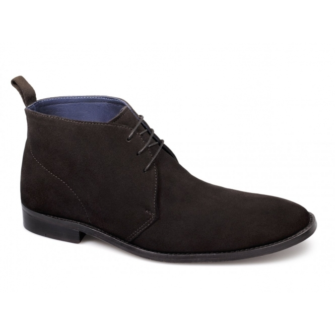 Gucinari RIVIERI Mens Suede Leather Welted Chukka Boots Brown