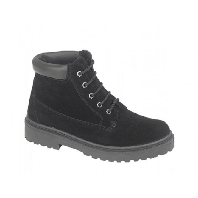 DEK SANDSTORM Unisex 5 Eyelet Padded Collar Desert Boots Black