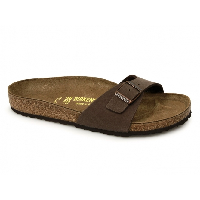birkenstock madrid womens ladies flat sandals mocca brown. Black Bedroom Furniture Sets. Home Design Ideas