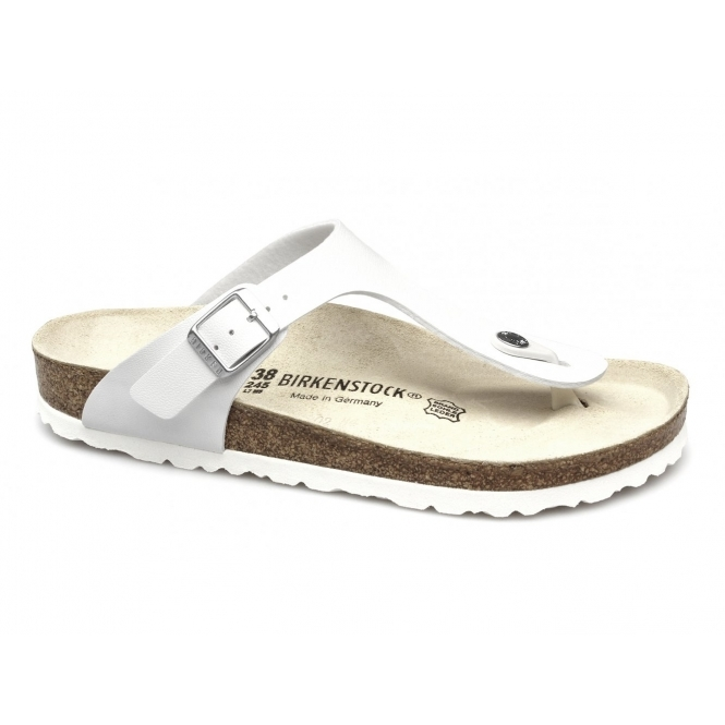 Birkenstock GIZEH Ladies Toe Post Buckle Sandals White