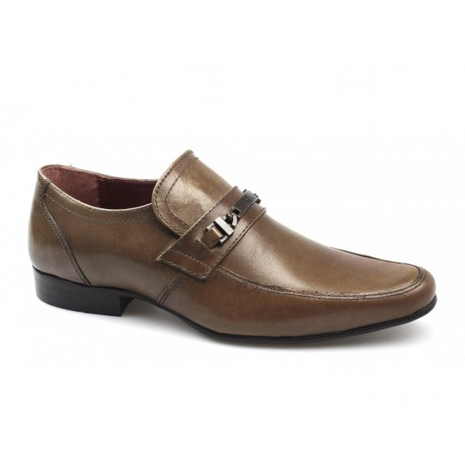 Red Tape LUTHER Mens Leather Buckle Strap Shoes Tan