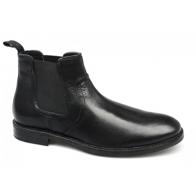 Red Tape NEWTON Mens Leather Chelsea Boots Black