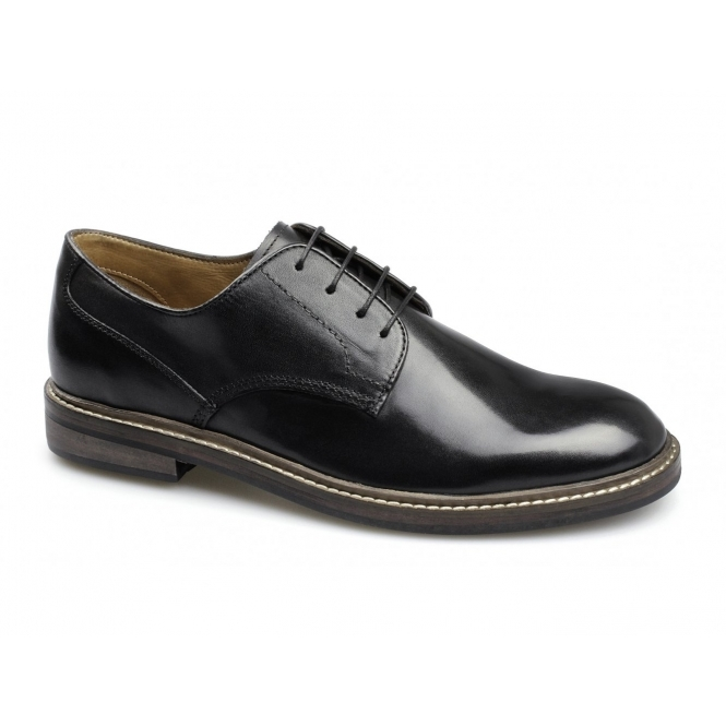 Lucini SOREN Mens Leather Wide Fit Lace-Up Shoes Black