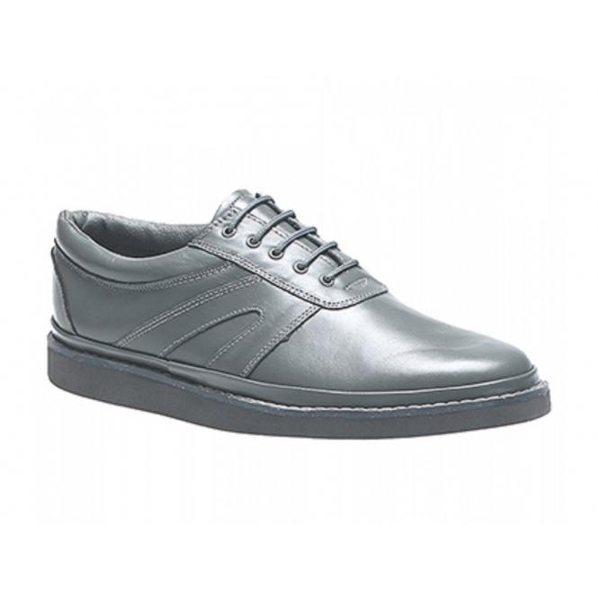 DEK LEVEN Unisex Leather Lace-Up Bowling Shoes Grey