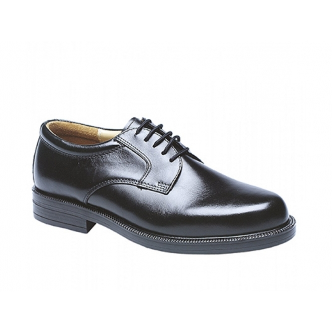 Scimitar ANAND Mens Leather Lace Up Gibson Shoes Black