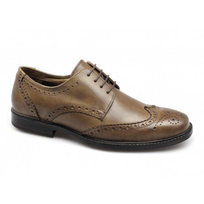 Red Tape RTX MAGLIN Mens Leather Brogue Shoes Tan