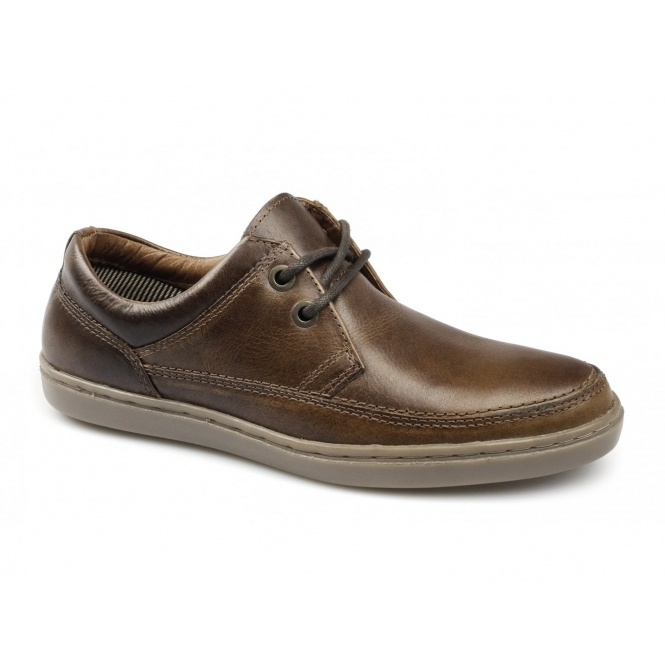 Red Tape MARDEN Mens Leather Lace-Up Shoes Burnished Tan