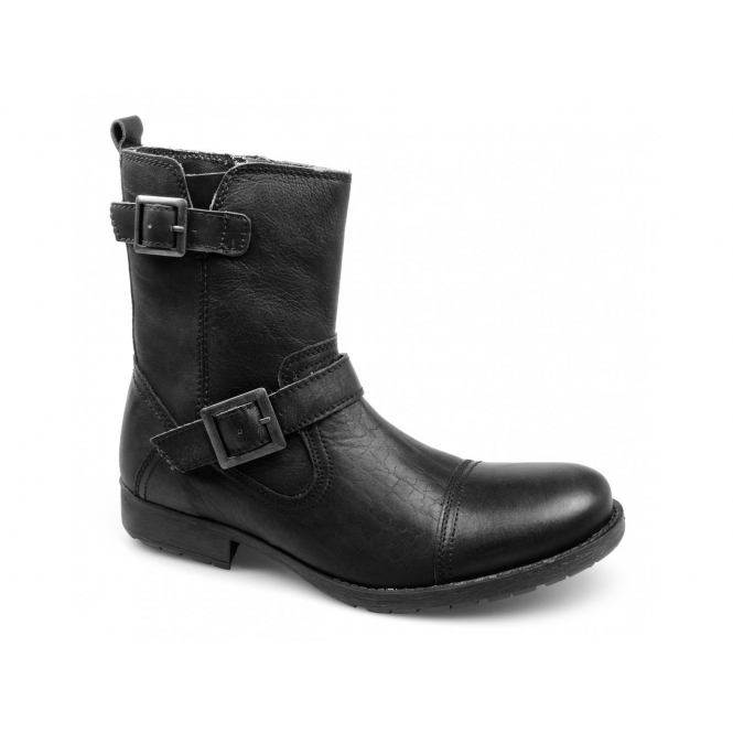 red tape haddington mens leather biker boots black buy