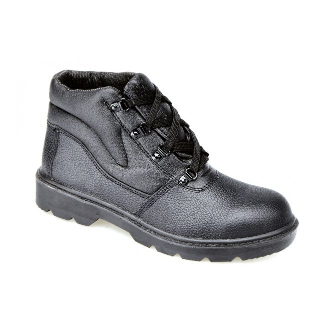 Grafters M475A Unisex S1 P SRC Ankle Safety Boots Black