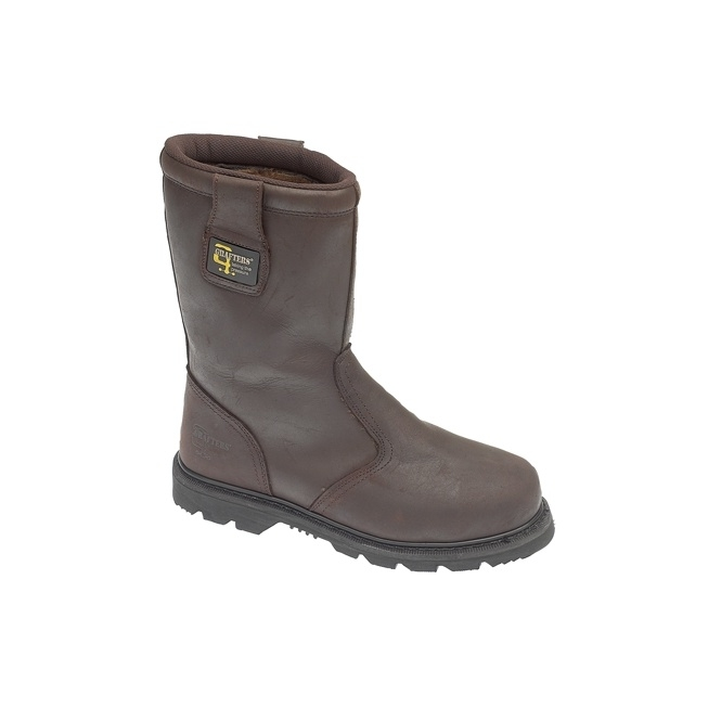 Grafters KNOX Mens SB HRO SRA Rigger Safety Boots Oily Brown