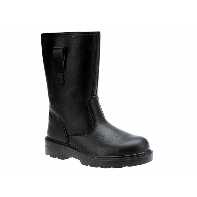 Grafters M021A Mens S1 SRC Safety Rigger Boots Black