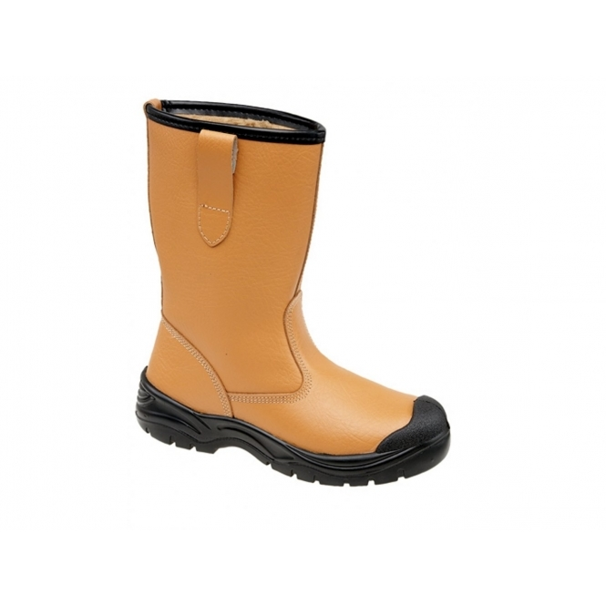 Grafters M239BSM Mens S1 SRC Safety Rigger Boots Tan
