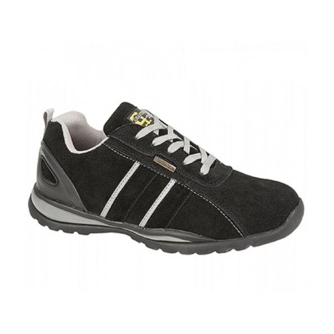 Grafters M090AS Unisex SB SRA Safety Trainers Black/Grey
