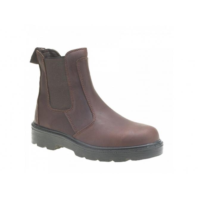 Grafters M5900B Mens S3 SRC WRU Dealer Safety Boots Brown