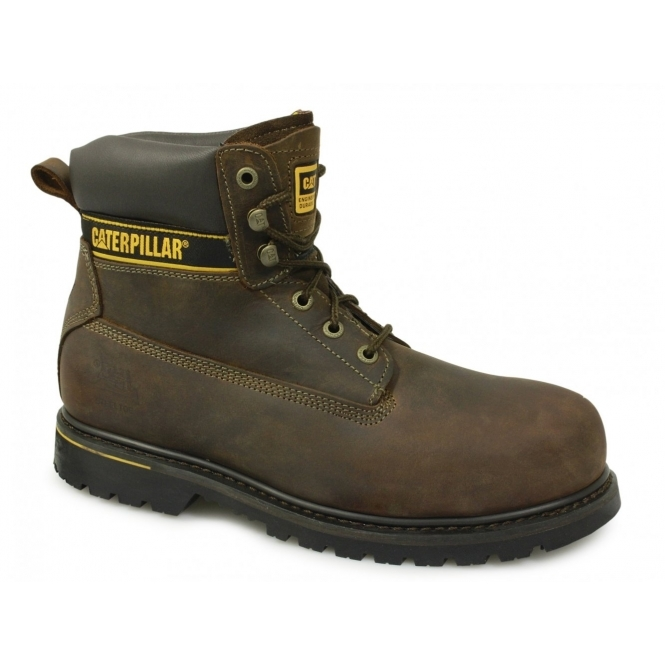 Cat ® HOLTON Mens SB HRO SRA Safety Boots Brown