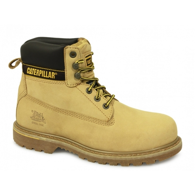 Cat ® HOLTON Mens SB HRO SRA Safety Boots Honey