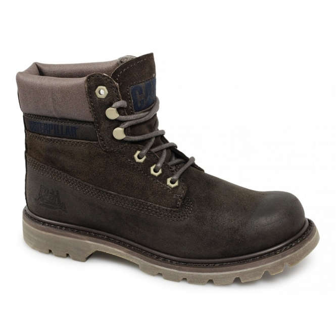 Cat ® COLORADO Mens Oily Nubuck Lace-Up Work Boots Mocha