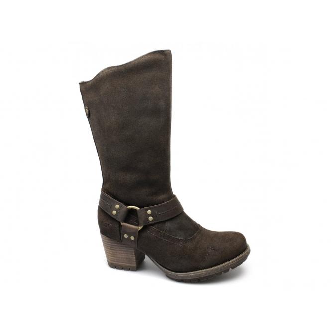 Cat ® LYNETTE Ladies Oily Nubuck Biker Boots Mocha