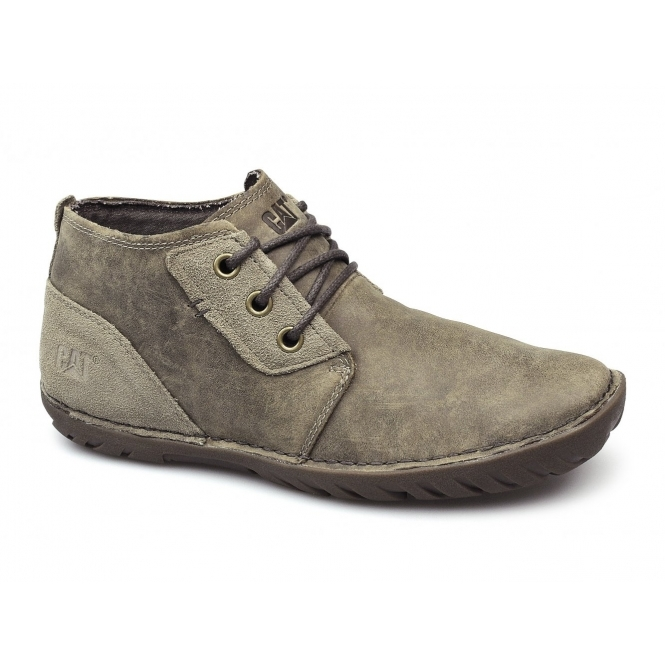 Cat ® LEROY MID Mens Leather Lace-Up Chukka Boots Beaned
