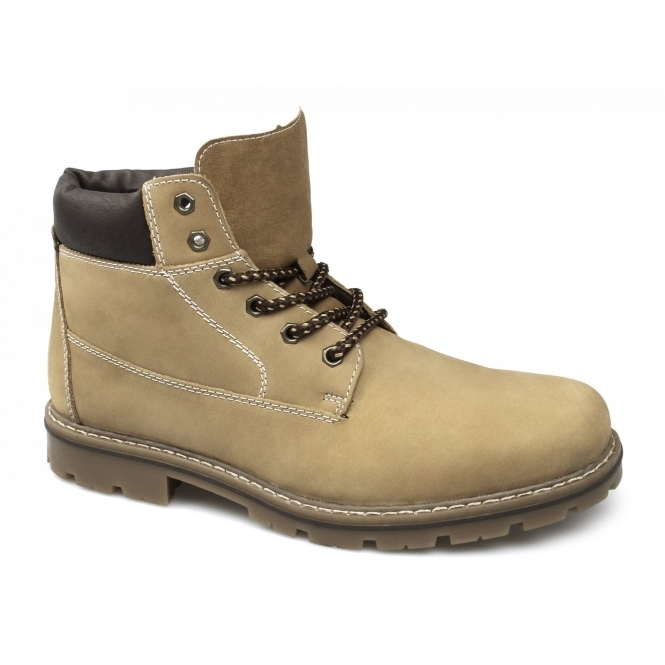Rieker 37712-23 Mens Nubuck Warm Boots Honey