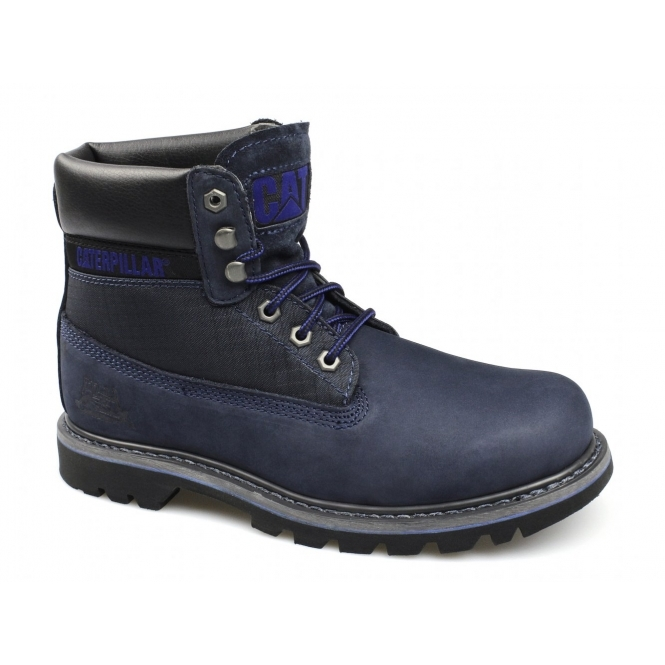 Cat ® COLORADO Mens Nubuck Leather Lace-Up Boots Midnight