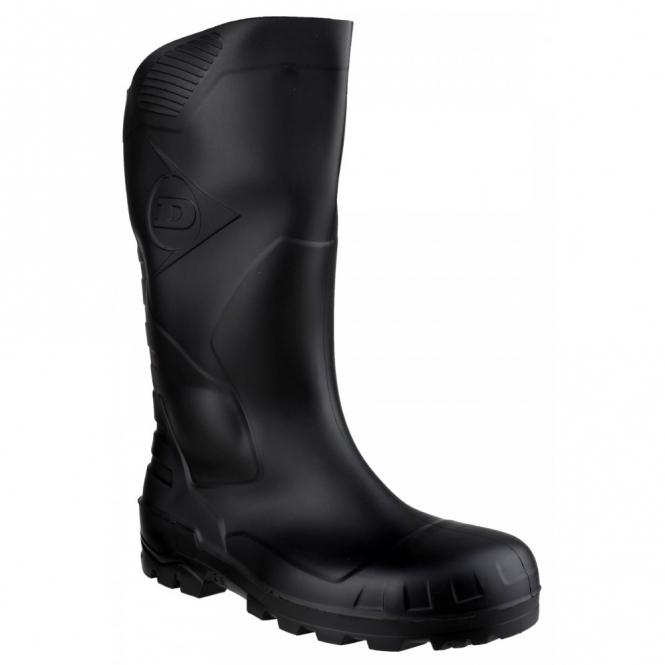 Dunlop DEVON Unisex Steel S5 SRA Safety Wellington Boots Black