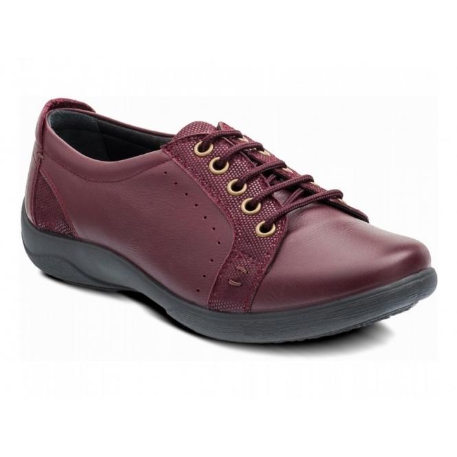 Padders SONNET Ladies EEE/EEEE Extra Wide Fit Shoes Plum
