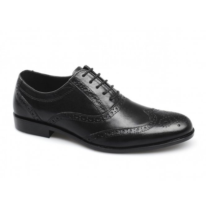 Red Tape FEALE Mens Leather Lace Up Brogues Black