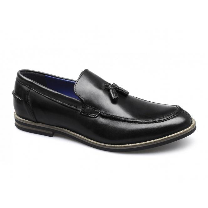 Red Tape SLIGO Mens Leather Tassel Loafers Black