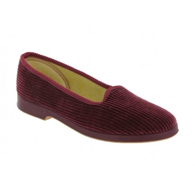 Great British Slippers EVA Ladies Corduroy Slippers Wine