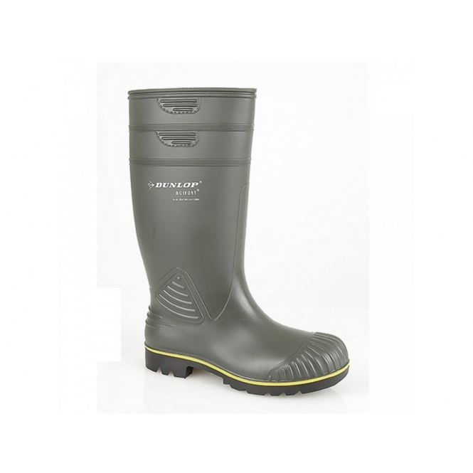 Dunlop ACIFORT HD Mens Agricultural Wellington Boots Green
