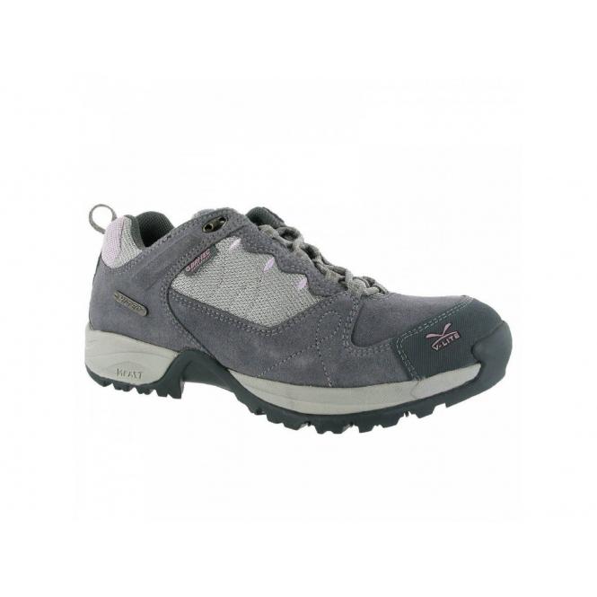 Hi-Tec V-LITE MALVERN LOW WP Ladies Suede Waterproof Hiking Shoes Bluemoon