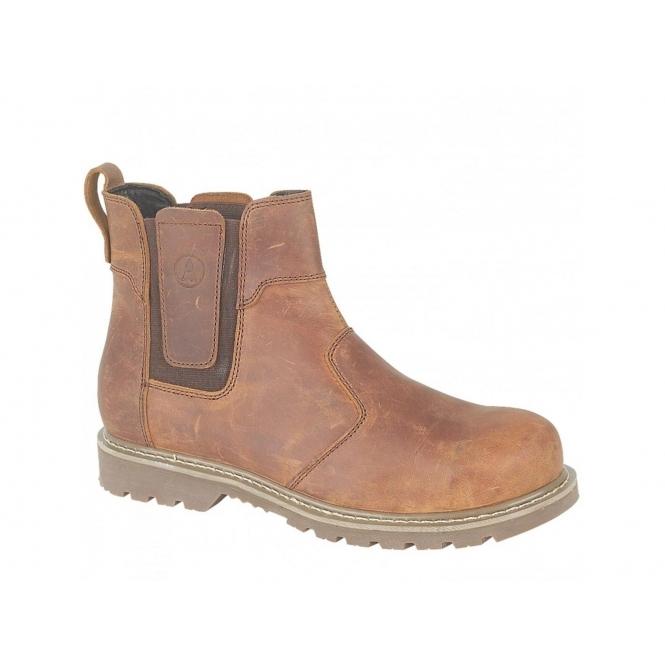 Amblers ABINGDON Mens Casual Work Dealer Boots Brown