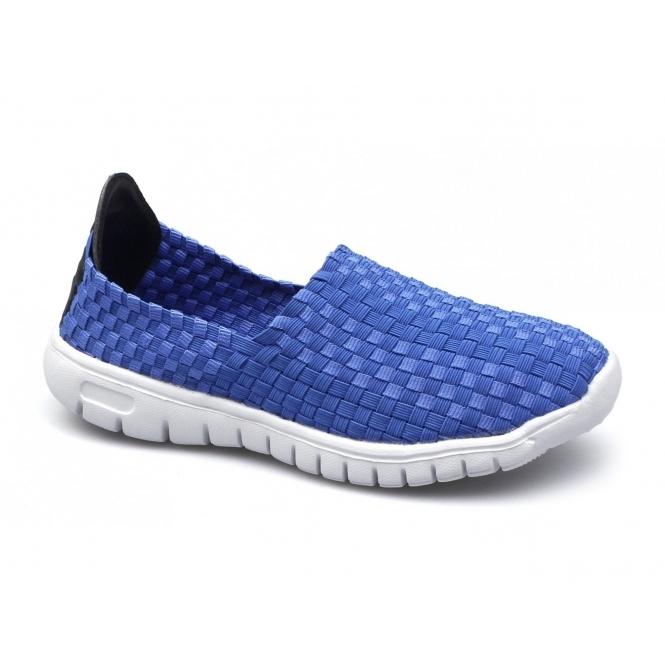 Divaz RAFT Ladies Slip-On Walking Trainers Blue