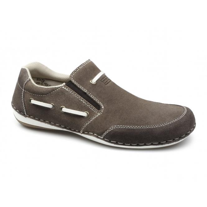 rieker antistress b9271 25 mens suede slip on shoes brown