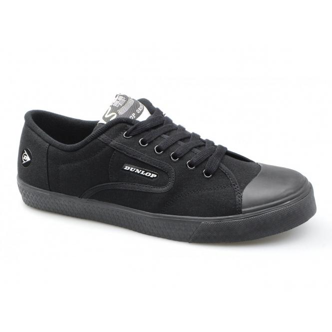 Dunlop GREEN FLASH Unisex Retro Trainers Black