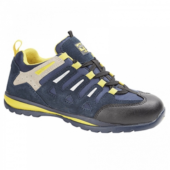 Grafters M210C Unisex SB SRA Safety Trainers Navy/Yellow