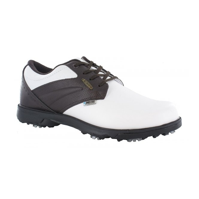 Hi-Tec DRI-TEC CLASSIC Mens Waterproof Golf Shoes White/Brown