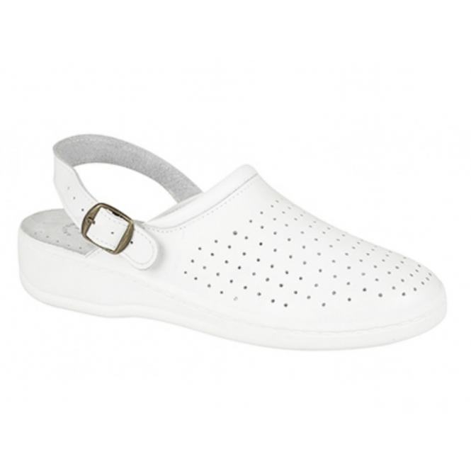 San Malo JESSE Mens Leather Mule Clogs Sandals White