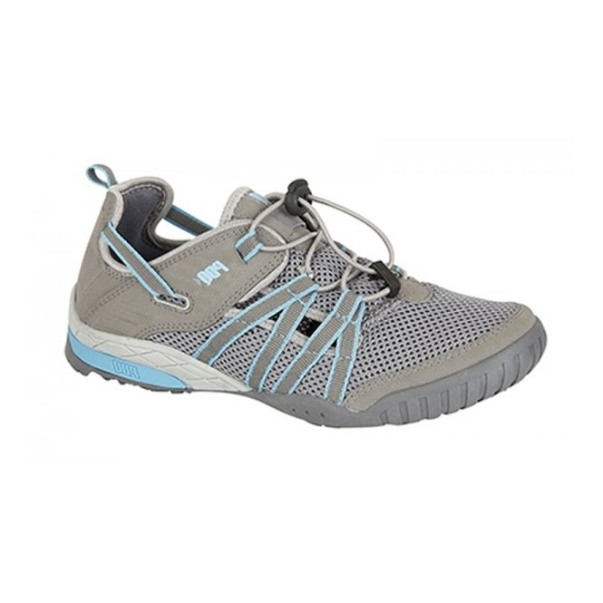 PDQ CHRISTINA Ladies Mesh Toggle Sports Sandals Grey/Turquoise