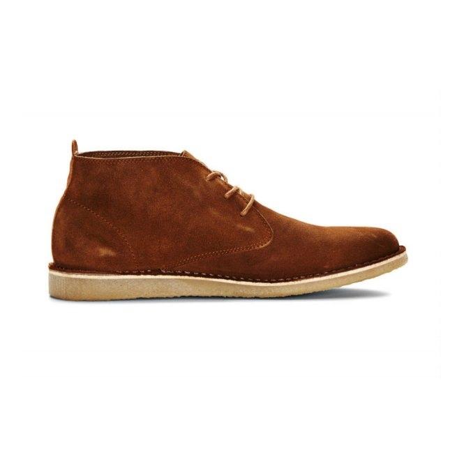 Jack & Jones JJ DARAN Mens Suede Desert Boots Cognac