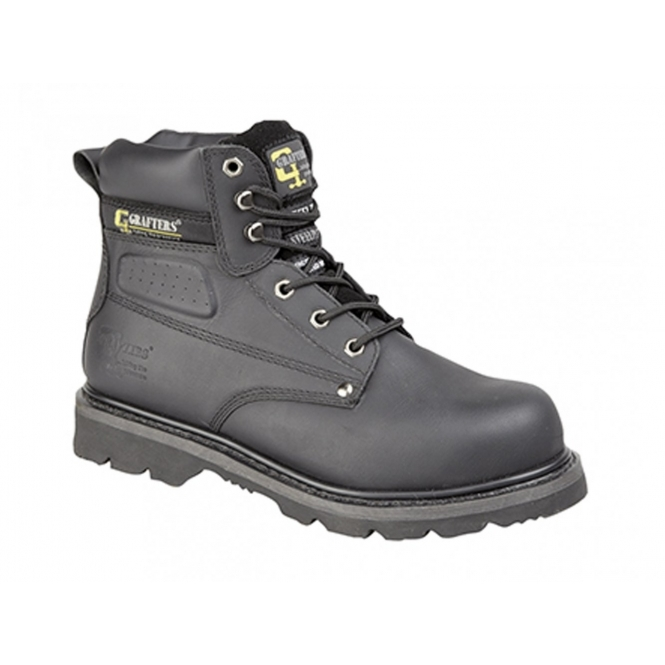 Grafters GLADIATOR Unisex SB HRO E SRA Safety Boots Black