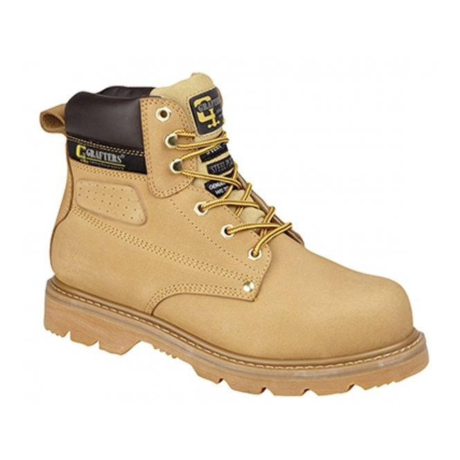 Grafters GLADIATOR Unisex SB HRO E SRA Safety Boots Honey