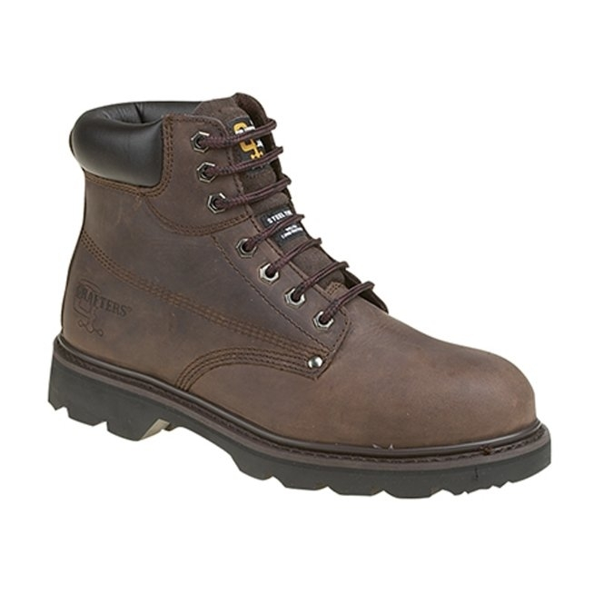 Grafters KNIGHT Mens SB SRC Safety Boots Brown