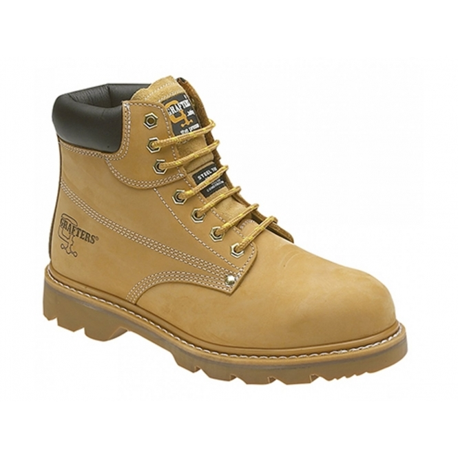 Grafters KNIGHT Mens SB SRC Safety Boots Honey