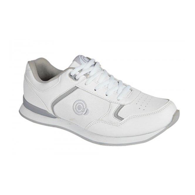 DEK JACK Mens Lace Up Bowling Shoes/Trainers White/Grey